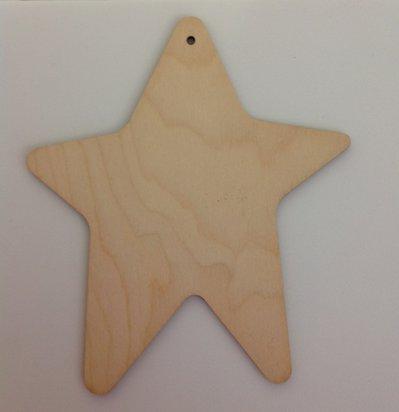 Stella in legno chiaro da decorare