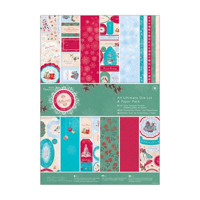 A4 Ultimate Die-cut & Paper Pack (48pk) - Bellissima Christmas