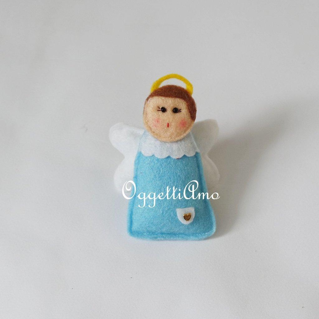 Angeli in feltro per le vostre decorazioni Natalizie: per un albero di Natale colorato e pieno di Amore!