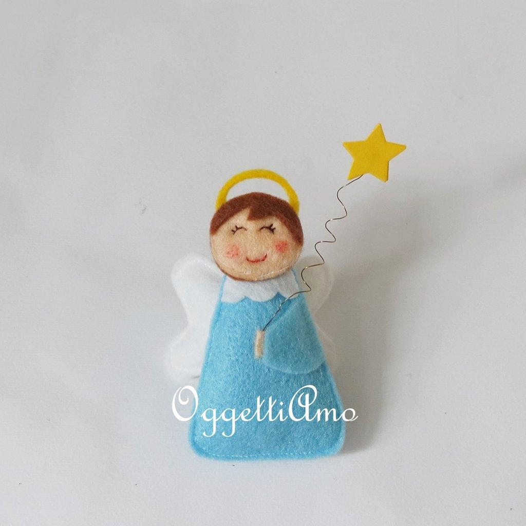 Angioletti di stoffa per le vostre decorazioni natalizie.