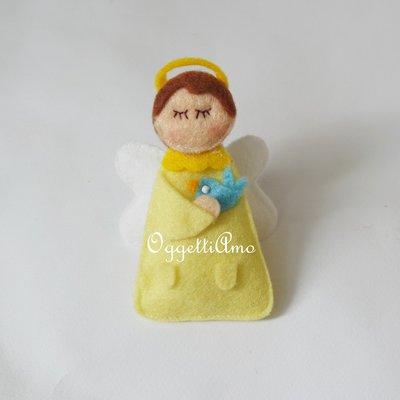 Angioletti in pannolenci per la bomboniera del tuo bambino