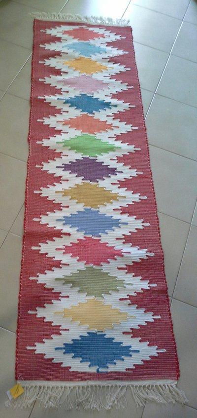 tappeto tipico ericino fantasia rombi
