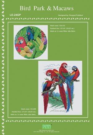 Bird Park & Macaws - Schema Punto Croce - Pinn Stitch