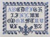 Petit Marquoir Bleu - Sampler Punto Croce - Savoir Faire Vailly