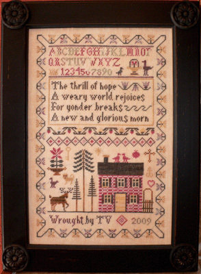 A Weary World Rejoices - Sampler Punto Croce