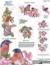 The Bird Collection - Schema Punto Croce - Donna Vermillion