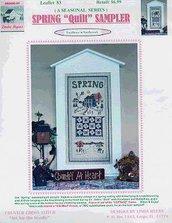 """Spring """"Quilt"""" Samper Punto Croce - LInda Myers"""