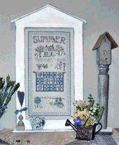 """Summer """"Quilt"""" Sampler Punto Croce - Linda Myers"""