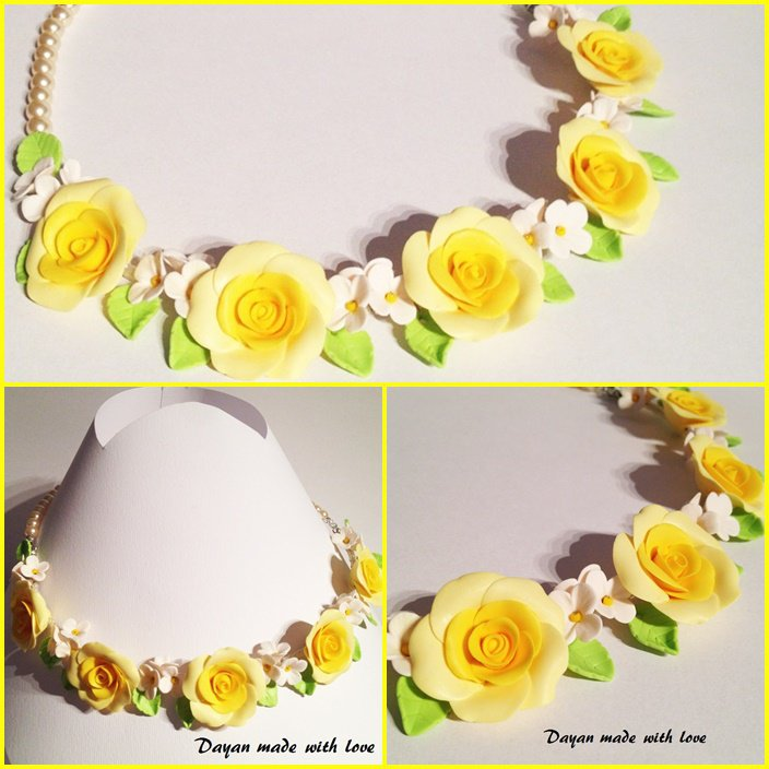 Collana Rose gialle