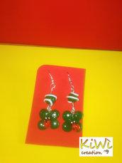 orecchini fimo quadrifoglio e coccinelle