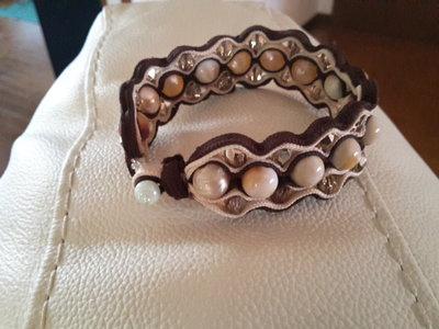 Bracciale  con perle in soutache