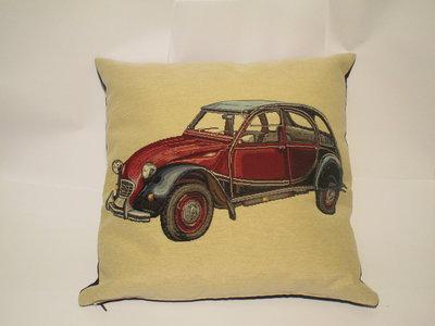 cuscino con auto d'epoca
