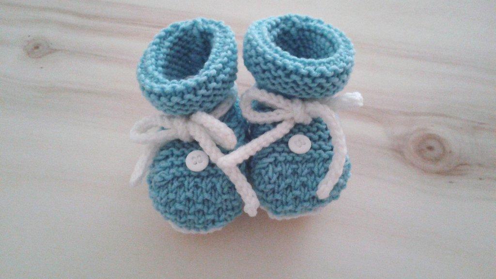 Scarpine semplici neonato verde acqua