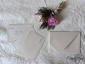 Biglietti di ringraziamento con busta origami