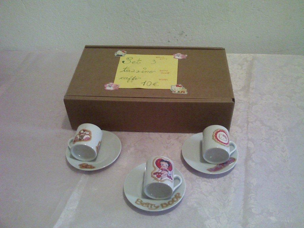 Set 3 tazzine di caffè