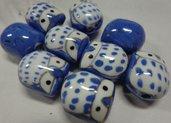 4 Perline Gufetti CARTA DA ZUCCHERO Porcellana