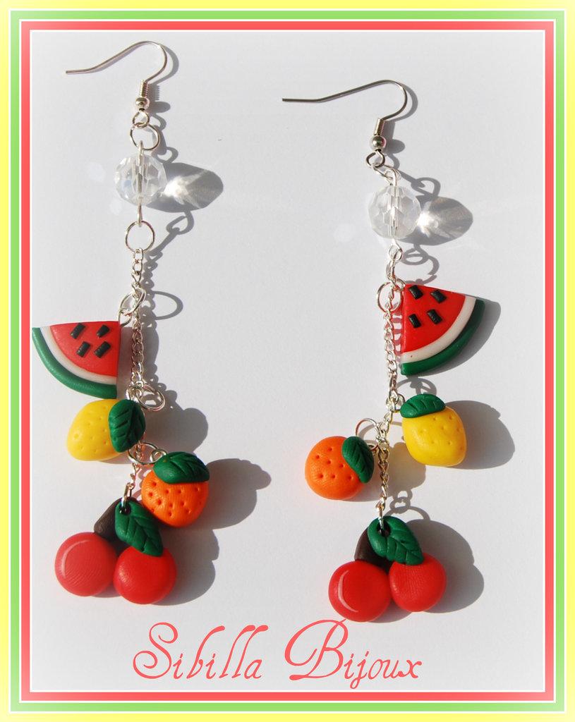 Orecchini frutta