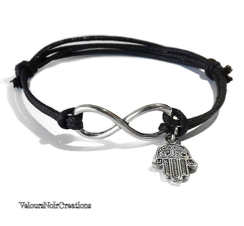 Bracciale simbolo infinito e mano di Fatima