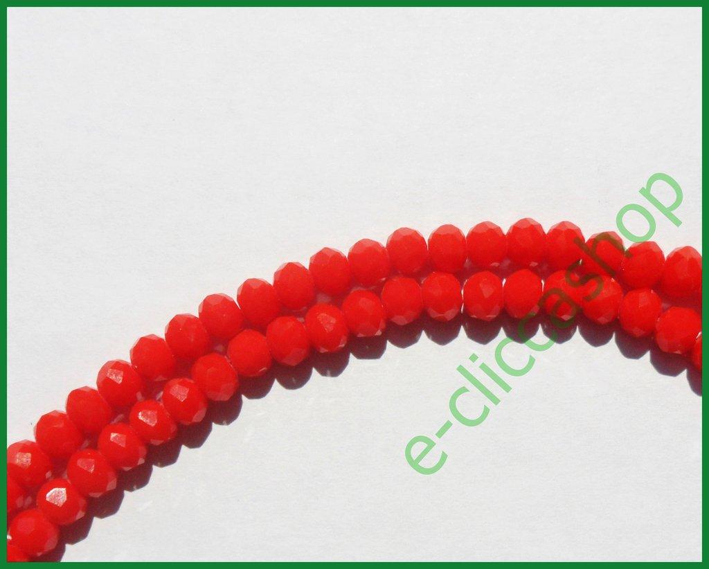 cipollotti rondelle abaco sfaccettati color rosso laccato 75 pz