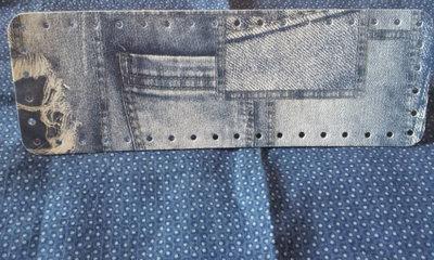 Fondo per borse ecopelle stampa jeans