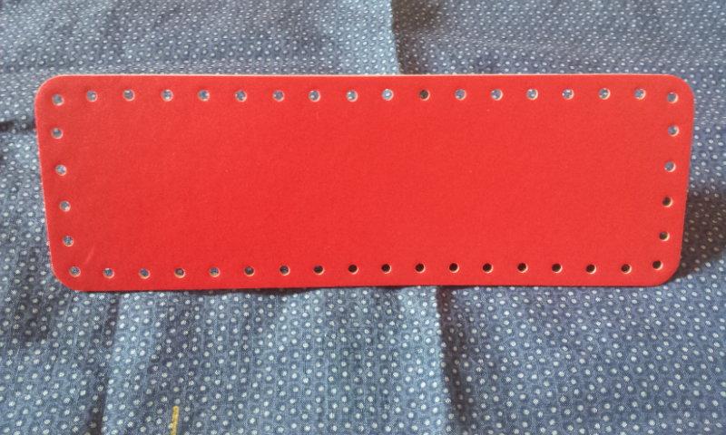Fondo per borse ecopelle rosso