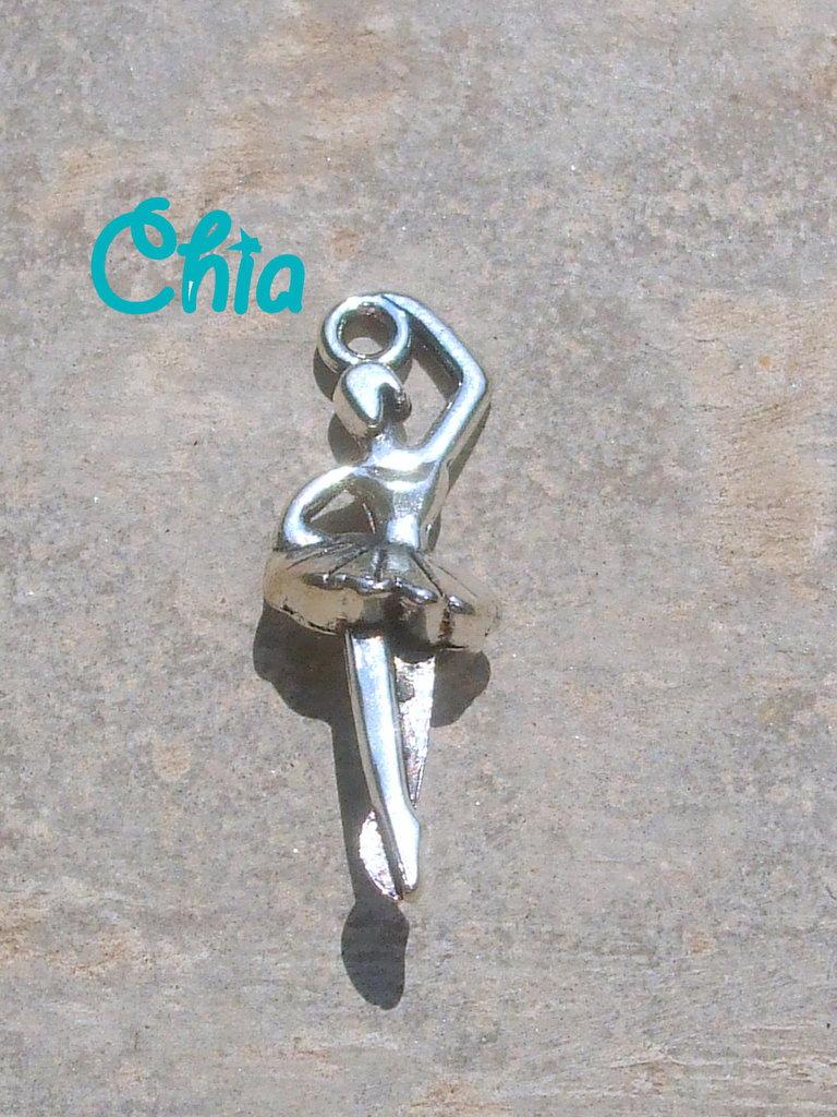 6 charms ballerina 16x10mm