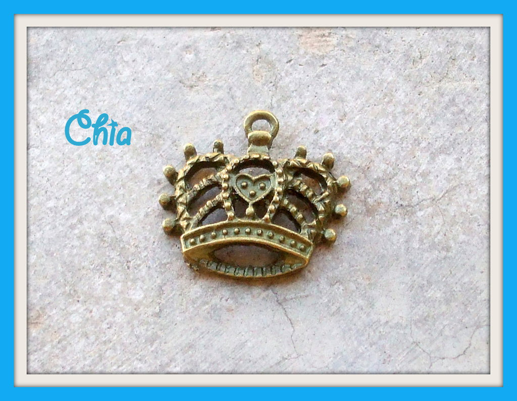 5 charms corona bronzo 20x20mm