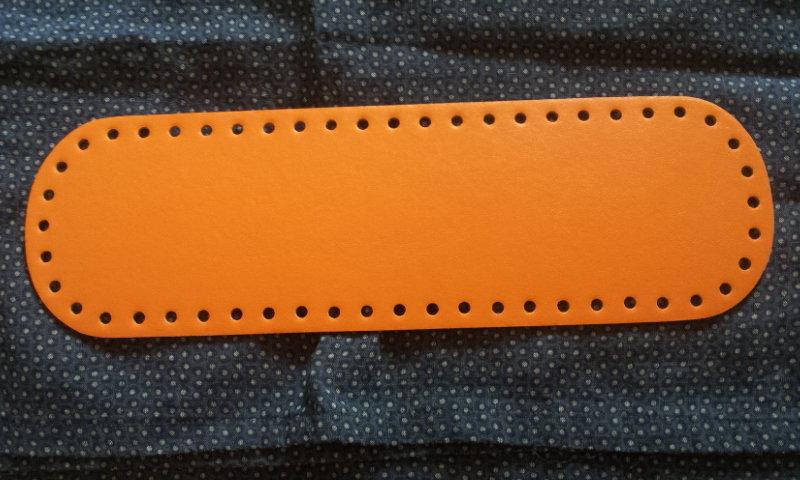 Fondo per borse ecopelle arancio