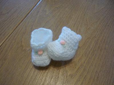 scarpette realizzate a uncinetto