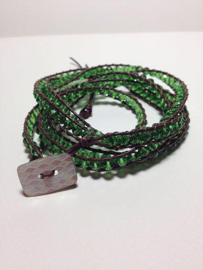 Bracciale perline verde