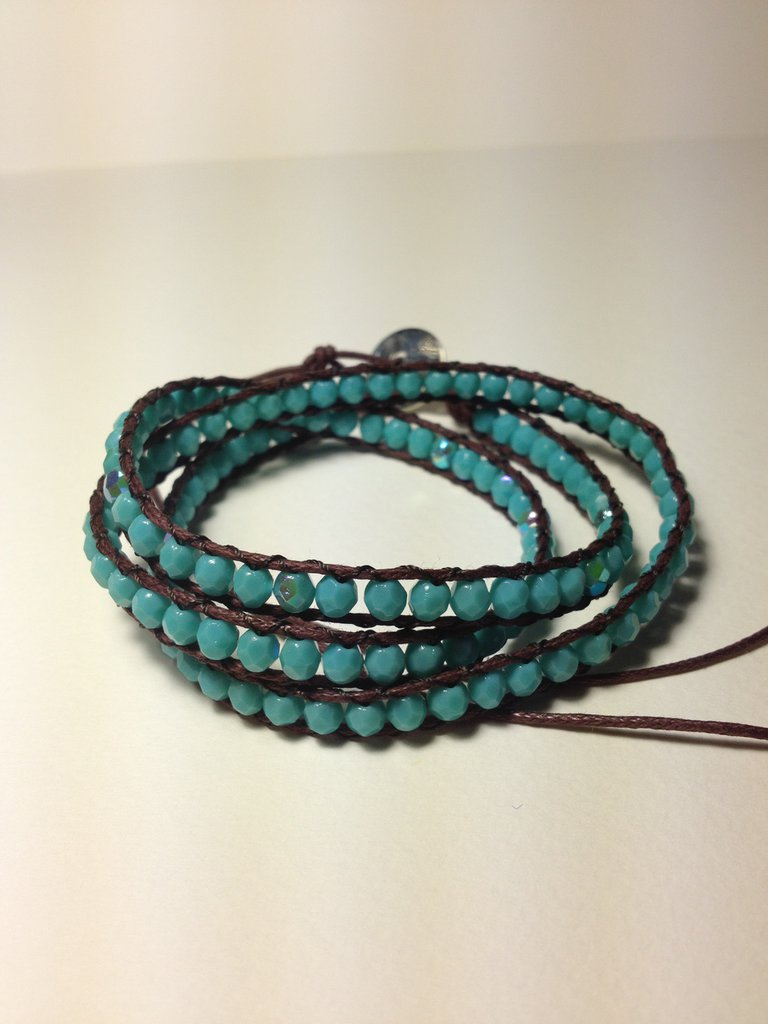 Bracciale perline turchese