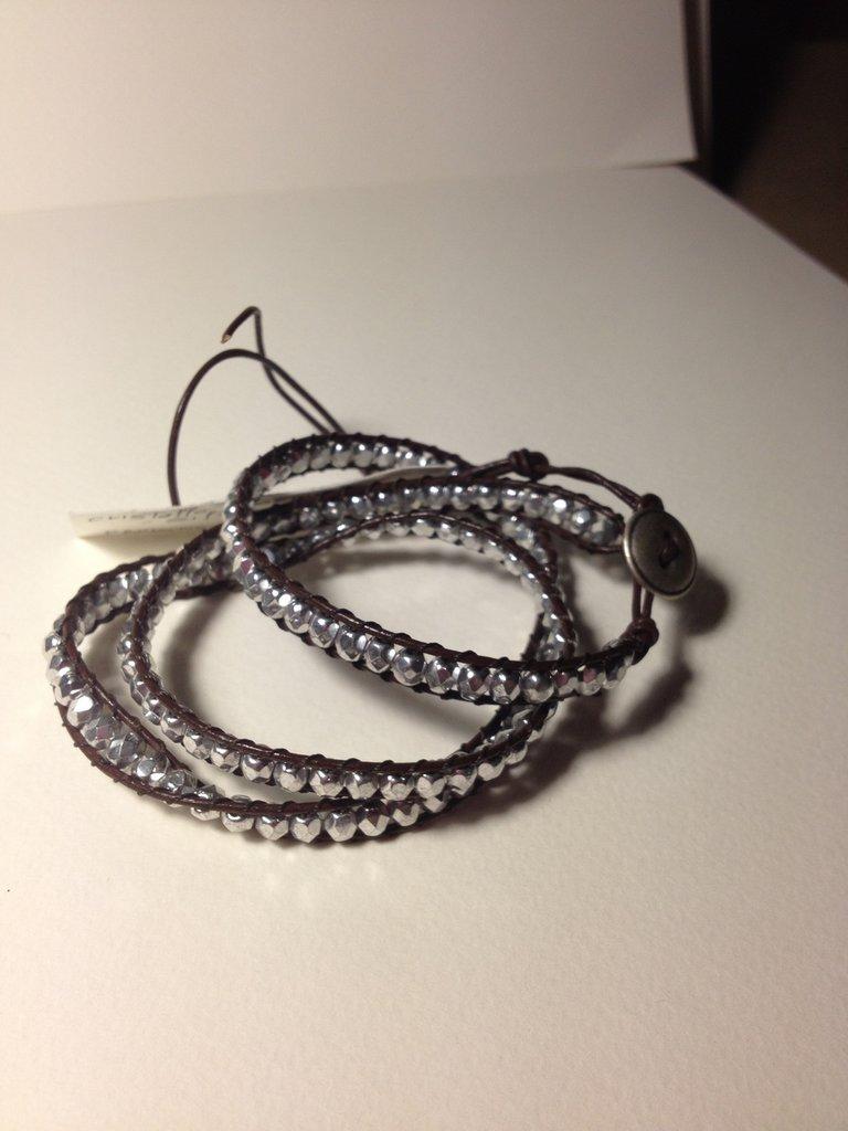 Bracciale perline silver