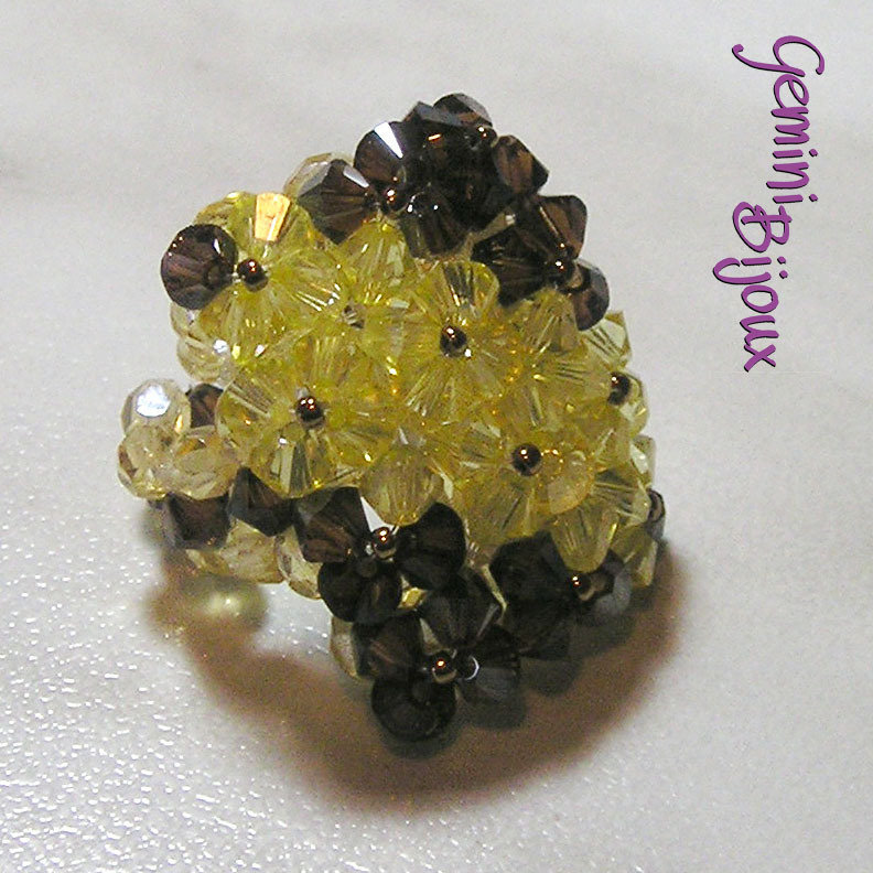 Anello Crystal Champagne