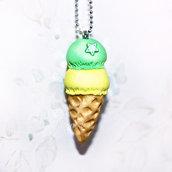 Collana lunga con gelato Menta&Limone