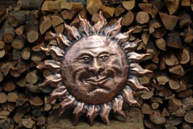 Sole in rame da parete ornamento ritaglio lavorato a mano
