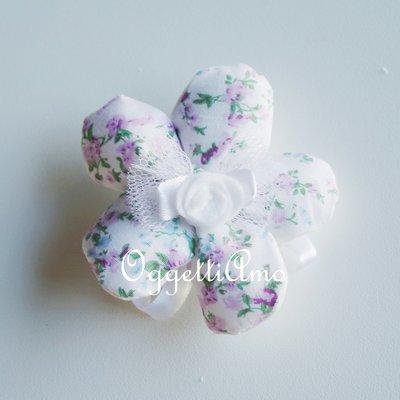 Fiore portaconfetti in cotone fantasia: una soluzione shabby chic per i vostri confetti!
