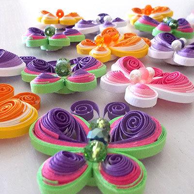 farfalle colorate calamita