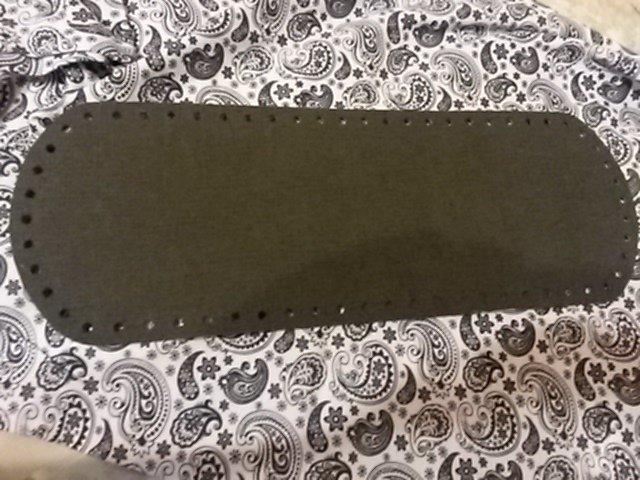 Fondo per borse ecopelle alcantara grigio 34x12