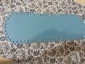 Fondo per borse ecopelle azzurro 34x12