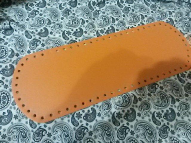 Fondo per borse ecopelle arancio 34x12