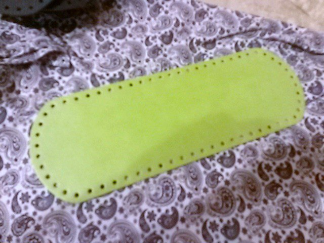 Fondo per borse ecopelle verde acido 34x12