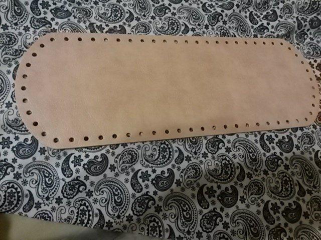 Fondo per borse ecopelle rosa antico 34x12