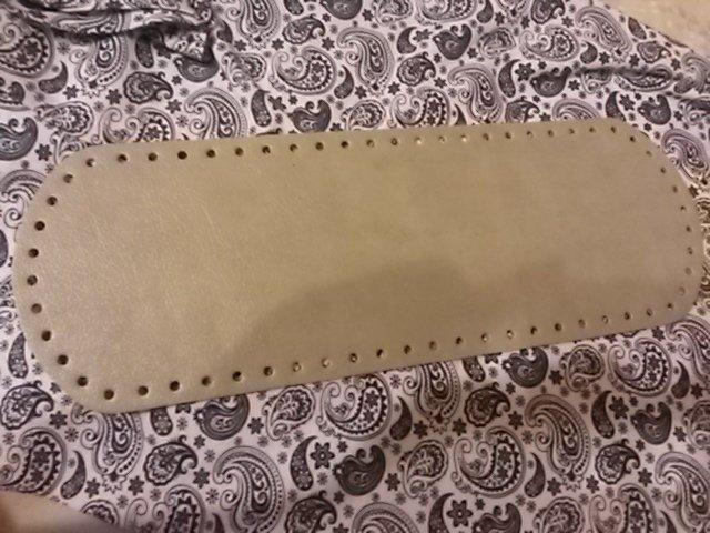 Fondo per borse ecopelle grigio 34x12