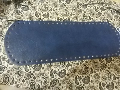 Fondo per borse ecopelle bluette 34x12