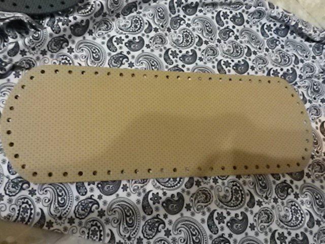 Fondo per borse ecopelle alcantara beige 34x12