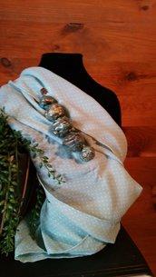 SPILLA  in cartapesta dipinta in oro anticato fatta a mano