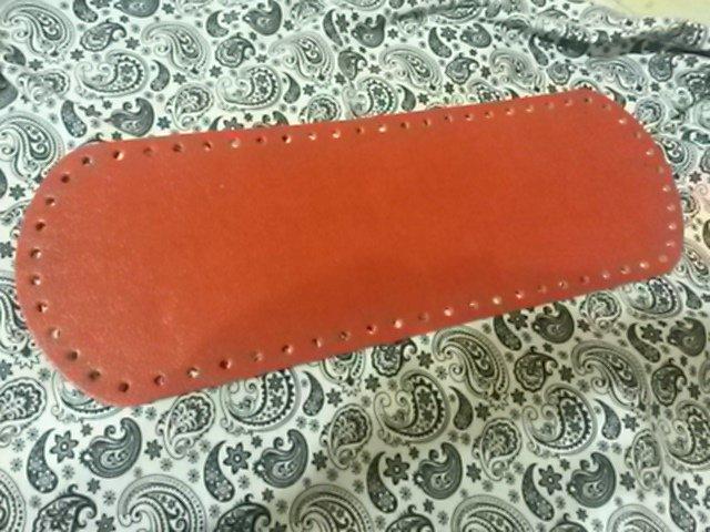 Fondo per borse ecopelle rosso 34x12