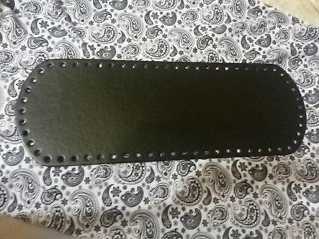 Fondo per borse ecopelle nera 34x12