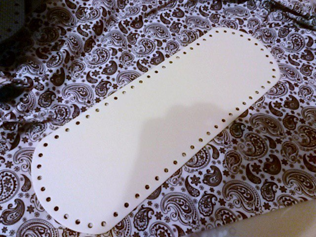 Fondo per borse ecopelle bianco 34x12