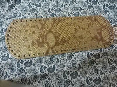 Fondo per borse ecopelle pitonato marrone chiaro 34x12